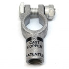 2/0 Gauge Negative Straight Compression Terminal Clamp Connector
